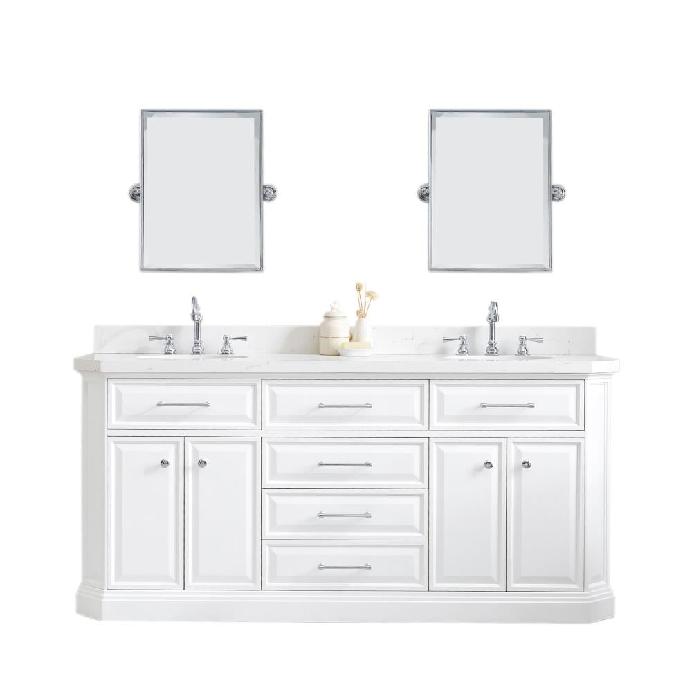 Water Creation Palace 20 in Pure White Undermount Double Sink ...