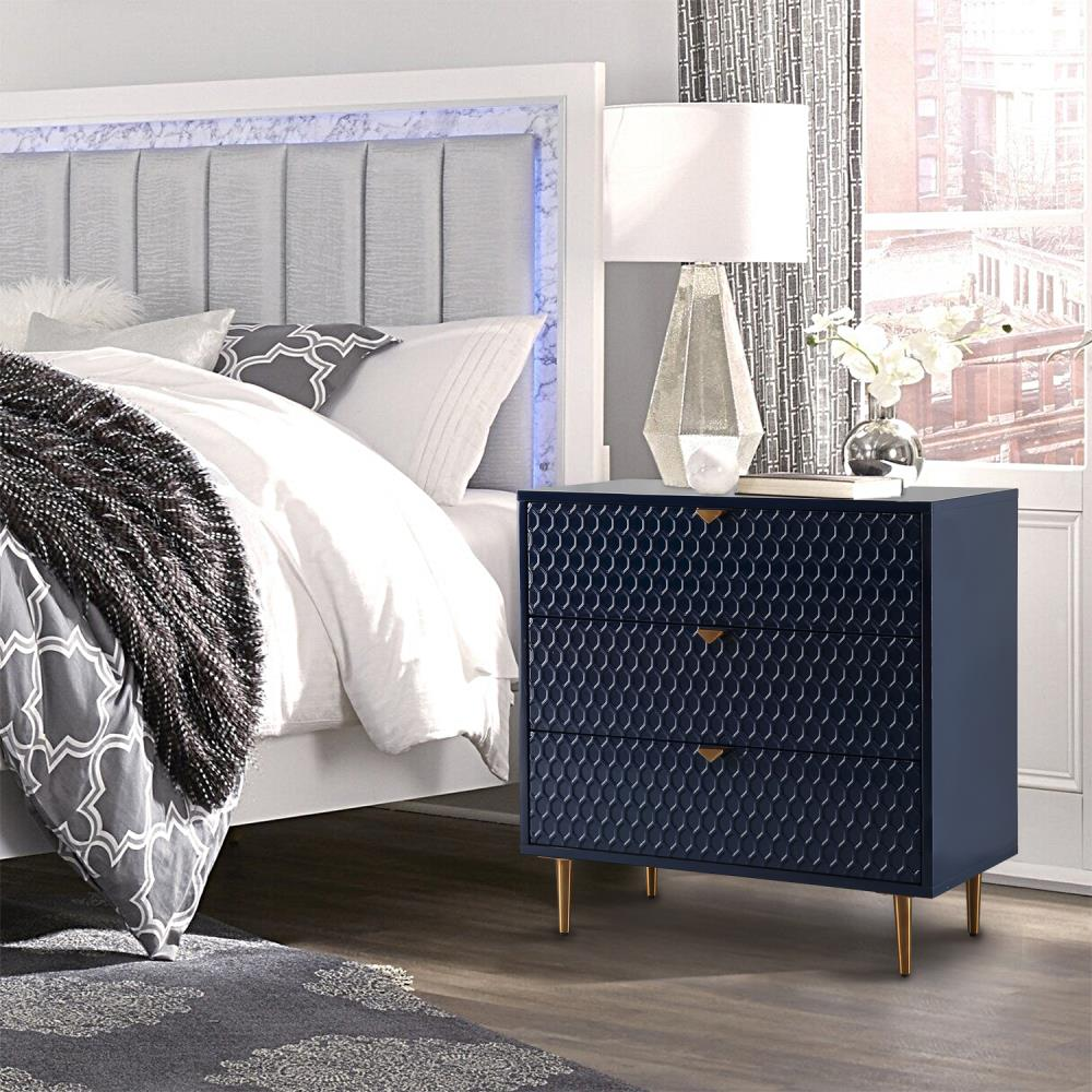 CASAINC Fully Assembly Accent Chest Blue Storage Cabinet with 20 ...