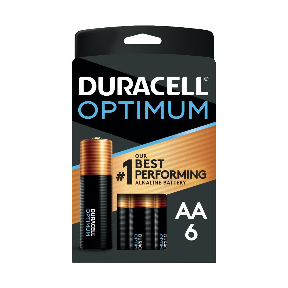 Duracell Optimum Alkaline Aa Batteries 6 Pack In The Aa Batteries Department At Lowes Com