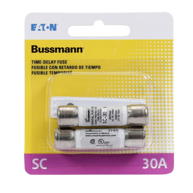 3Amp Time-Delay Class Fuse G Melamine Tube 600V zh 1Pc Bussmann SC-3 SC-3