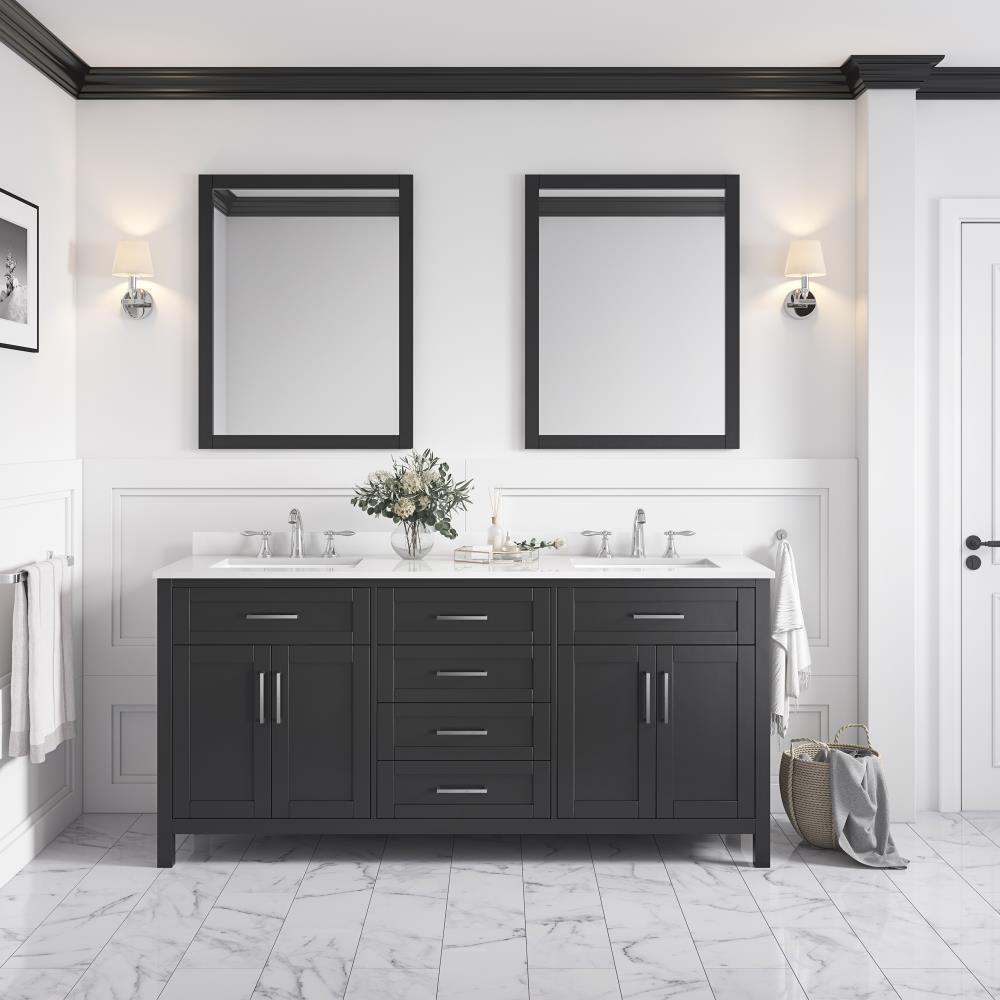 OVE Decors Tahoe 20 in Espresso Undermount Double Sink Bathroom ...