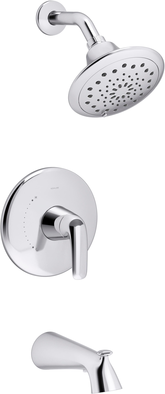 KOHLER Avail Polished Chrome 20 Handle Bathtub and Shower Faucet ...