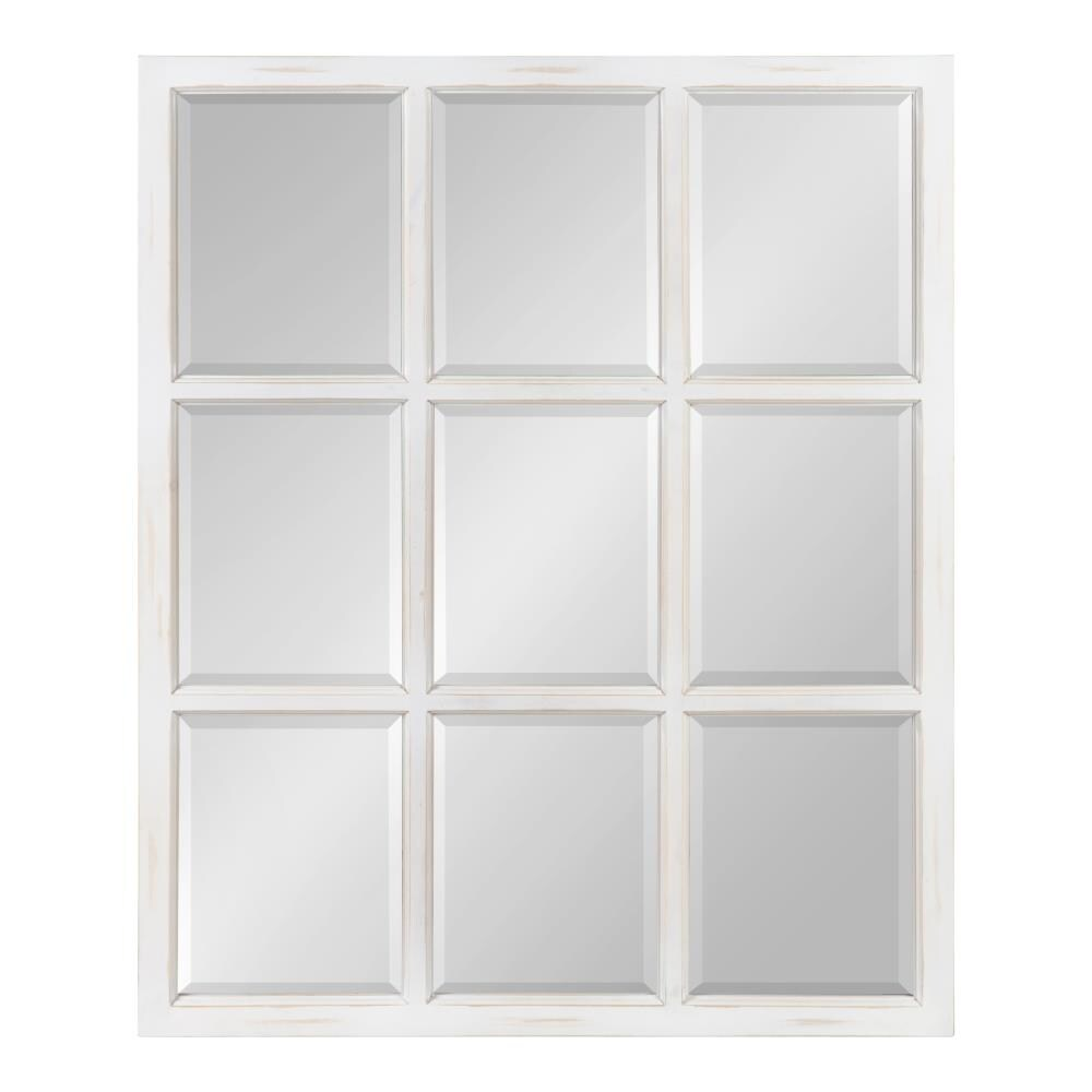 Kate and Laurel Hogan 32-in L x 26-in W White Framed Wall Mirror ...