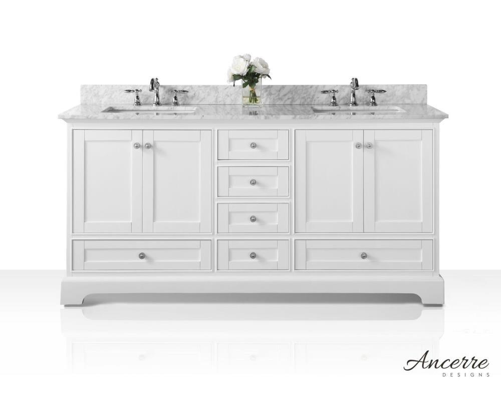 Ancerre Designs Audrey 20 in White Undermount Double Sink Bathroom ...