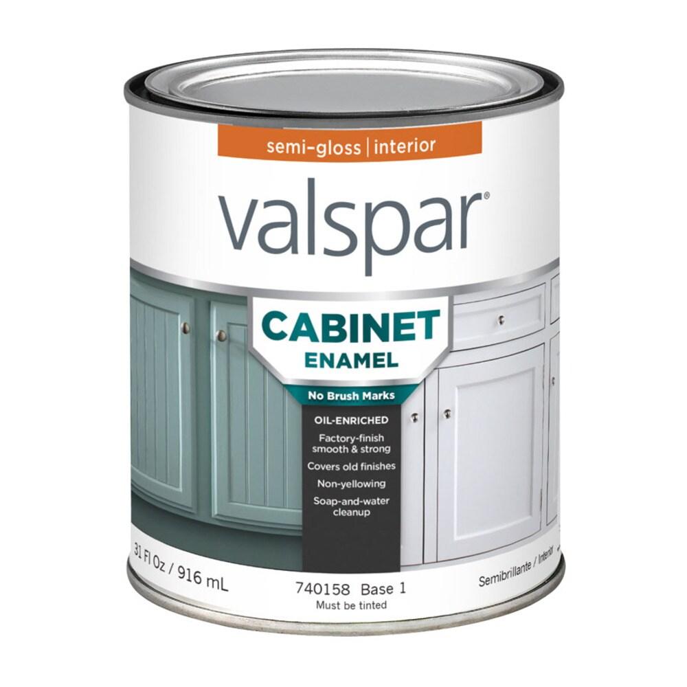Valspar Cabinet and Furniture Semi Gloss Enamel Interior Paint 9 ...