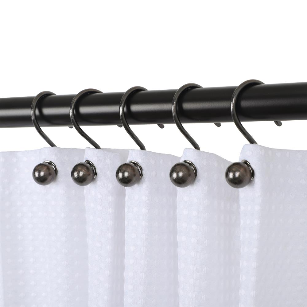 Utopia Alley Utopia Alley Ball Shower Curtain Hooks, Rustproof Aluminum  Shower Curtain Hooks for Bathroom Shower Rods Curtains, Set of 20  Oil ...