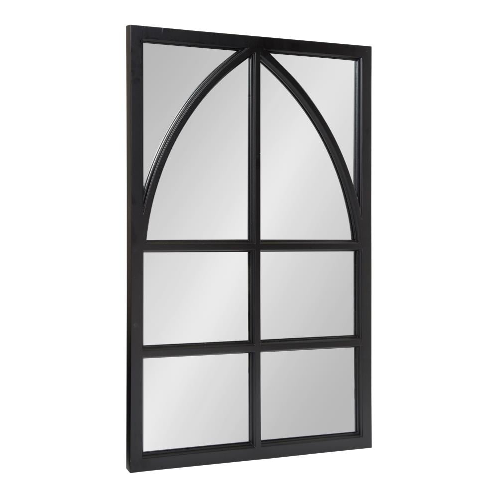 Kate and Laurel Hogan 36-in L x 24-in W Black Framed Wall Mirror ...