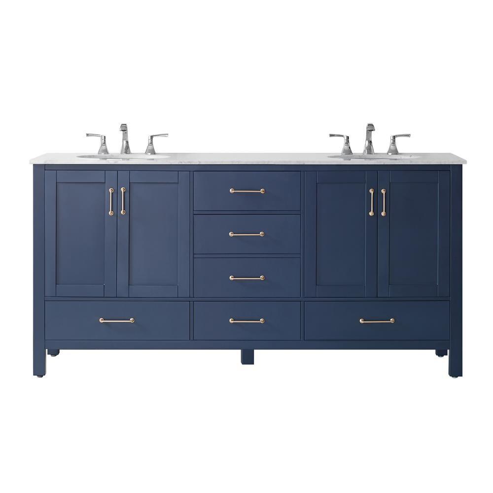 Vinnova Gela 20 in Royal Blue Undermount Double Sink Bathroom ...