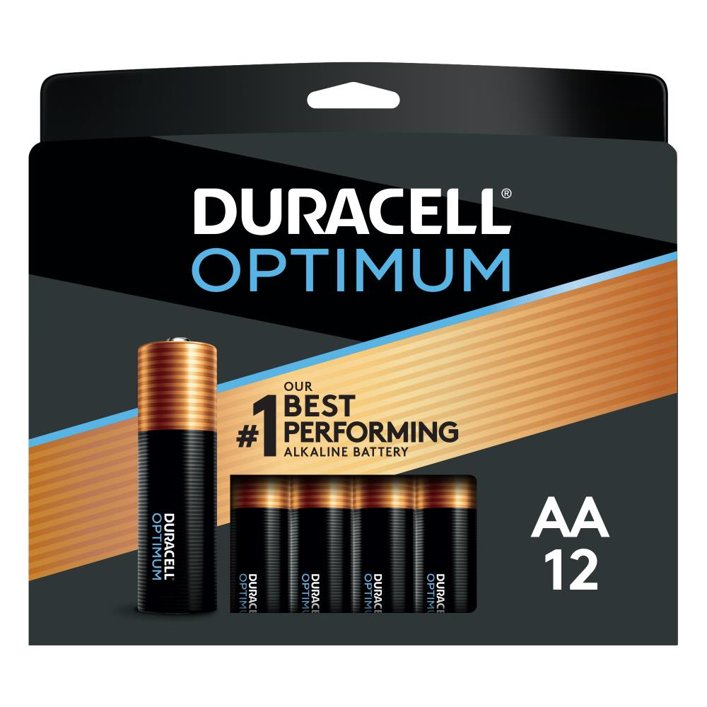 Duracell Optimum Alkaline Aa Batteries 12 Pack In The Aa Batteries Department At Lowes Com