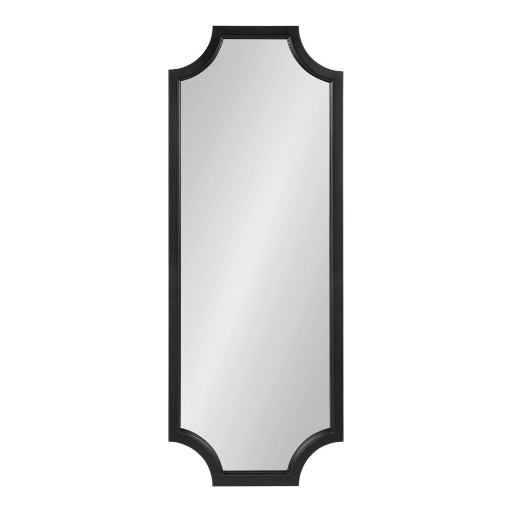 Kate and Laurel Hogan 48-in L x 18-in W Black Framed Wall Mirror