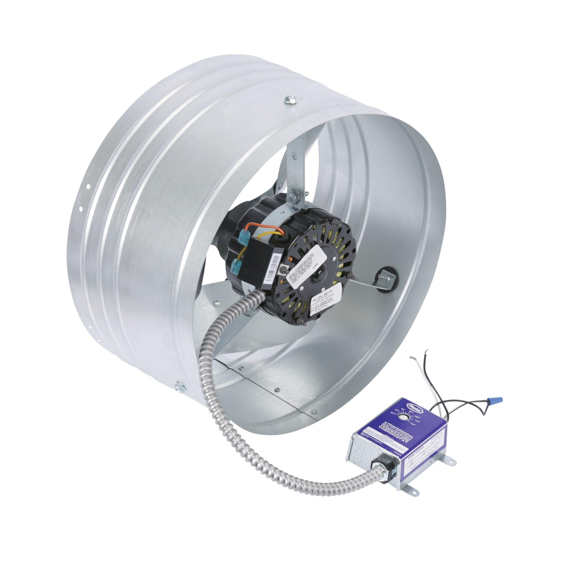 Master Flow Mount Attic Fan Gable High Efficiency Galvanized Steel 1600 CFM