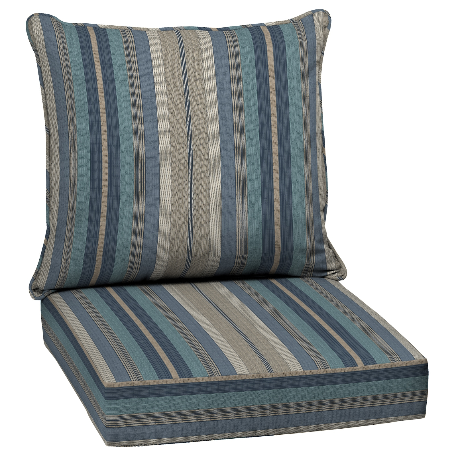 allen + roth 20 Piece Deep Seat Patio Chair Cushion in the Patio ...