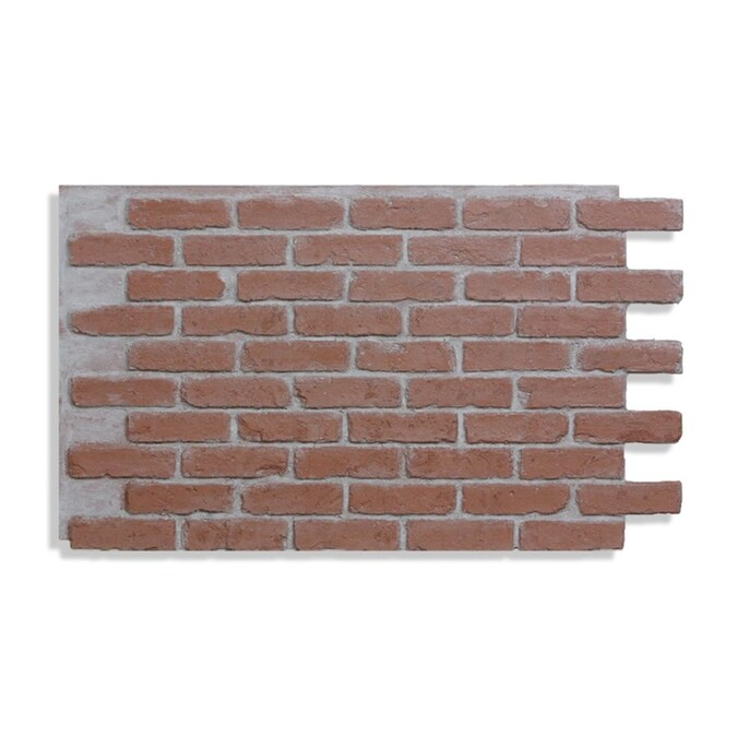 Antico Elements Faux Brick Panels Red Light Grout 47 5 In X 27 25 In Panel Brick Veneer In The Brick Veneer Department At Lowes Com