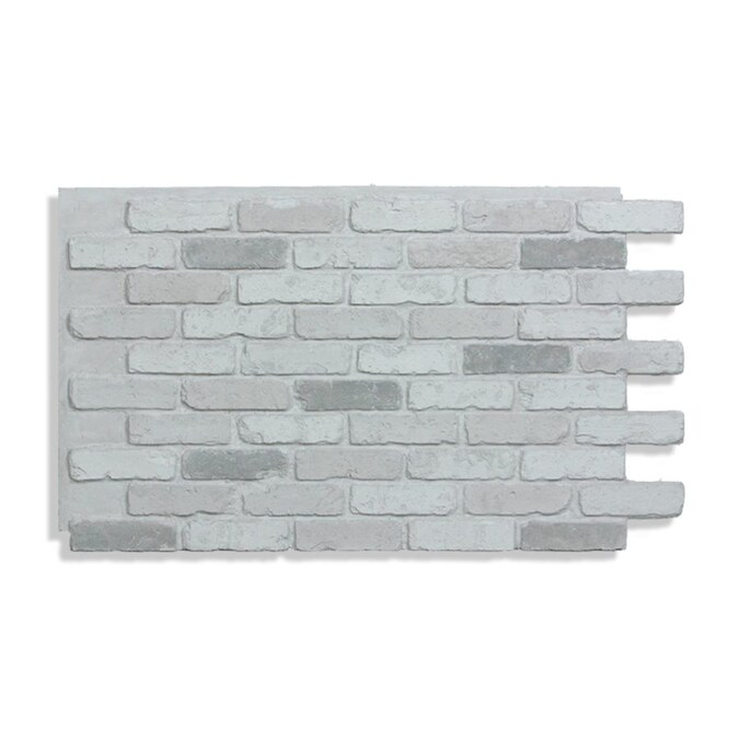 Antico Elements Faux Brick Panels White 47 5 In X 27 25 In Panel Brick Veneer In The Brick Veneer Department At Lowes Com