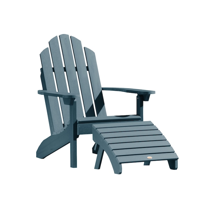 Highwood Adirondack Nantucket Blue Plastic Frame Stationary Adirondack Chair S With Slat Seat In The Patio Chairs Department At Lowes Com