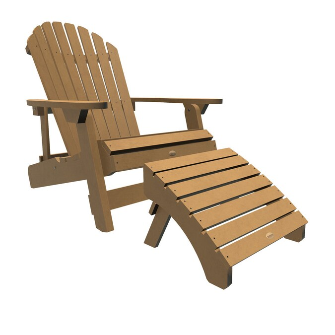 Highwood The Adirondack Collection Toffee Plastic Frame Stationary Adirondack Chair S With Slat Seat In The Patio Chairs Department At Lowes Com