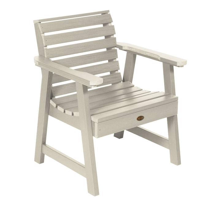 Highwood Sequoia Professional Whitewash Plastic Frame Stationary Conversation Chair S With Slat Seat In The Patio Chairs Department At Lowes Com