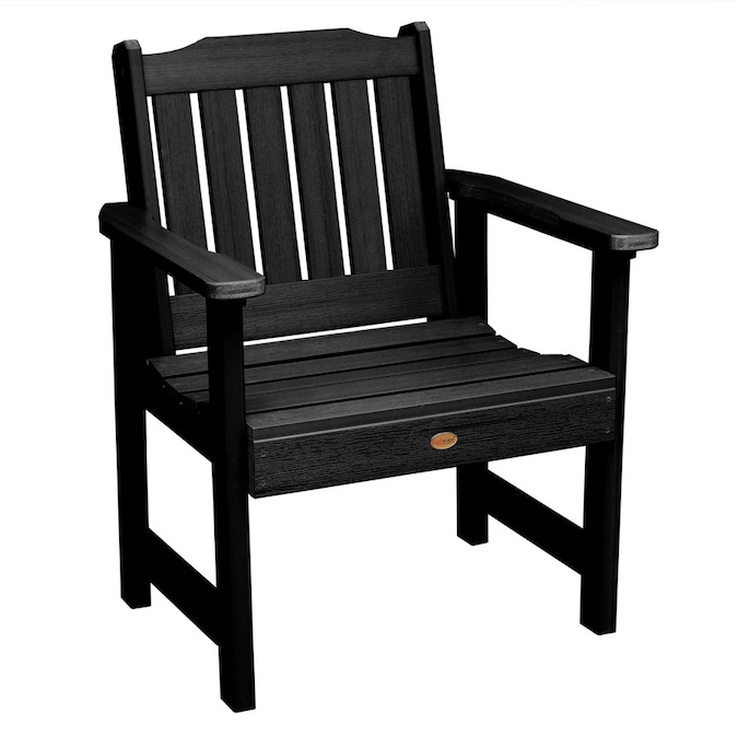 Highwood The Lehigh Collection Black Plastic Frame Stationary Conversation Chair S With Slat Seat In The Patio Chairs Department At Lowes Com
