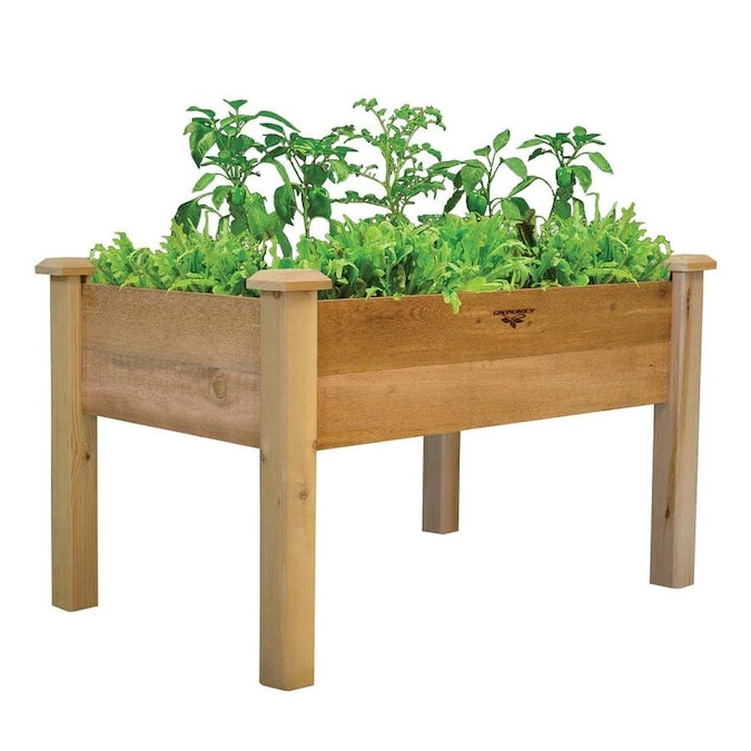Gronomics 48 In X 30 In Rustic Red Cedar Rustic Raised Planter Box In The Raised Garden Beds Department At Lowes Com