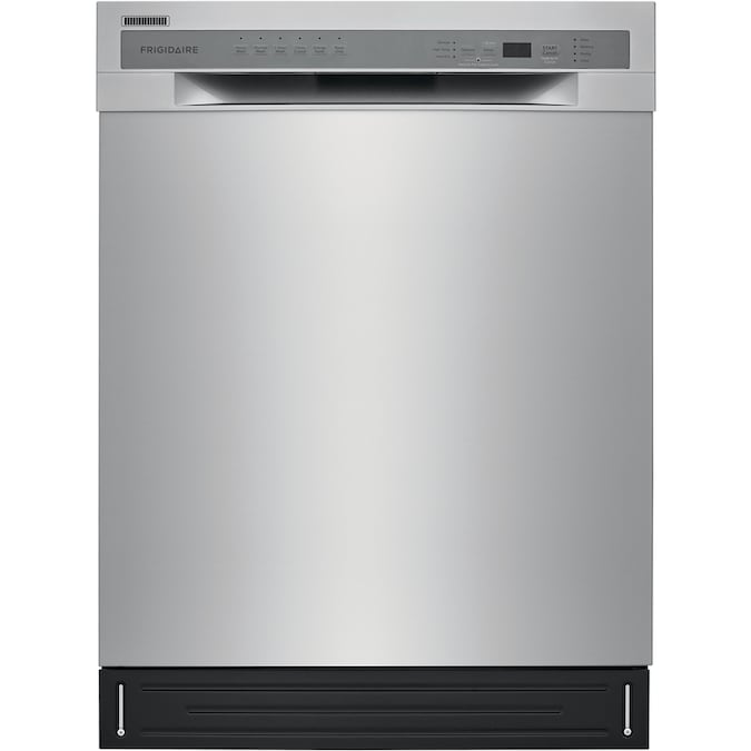 Frigidaire 52 Decibel Front Control 24 In Built In Dishwasher Stainless Steel Energy Star Ada Compliant In The Built In Dishwashers Department At Lowes Com