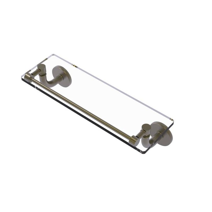 Allied Brass Remi Antique Brass 1 Tier Brass Wall Mount Bathroom Shelf In The Bathroom Shelves Department At Lowes Com