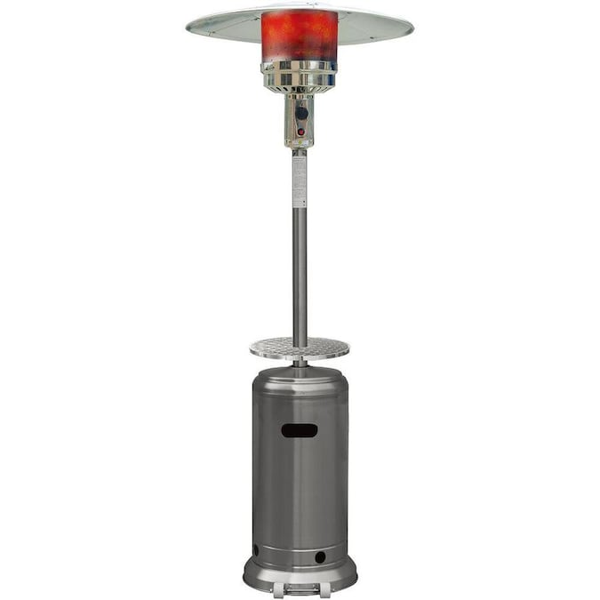 Hanover 48000 Btu Stainless Steel Floorstanding Liquid Propane Patio Heater In The Gas Patio Heaters Department At Lowes Com