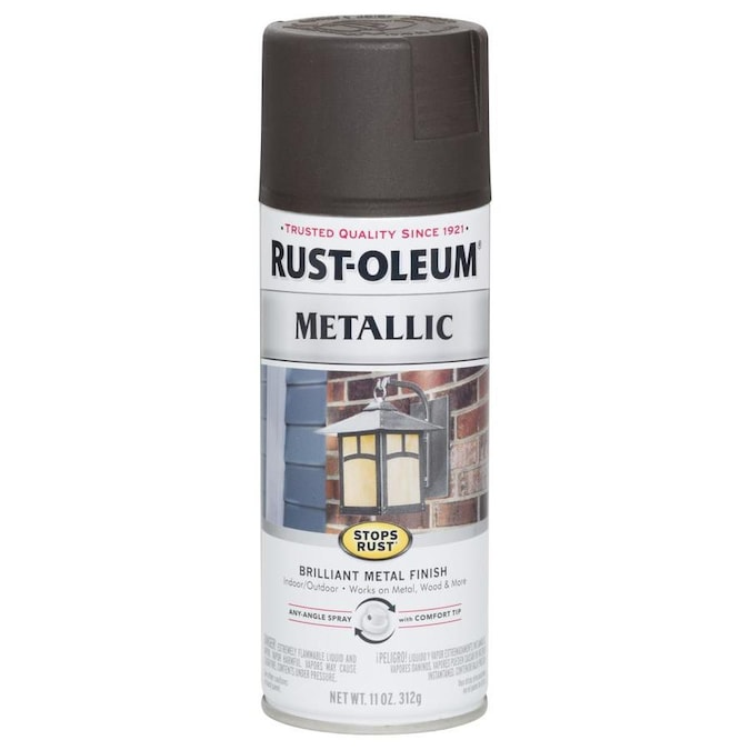 Rust Oleum Stops Rust Gloss Dark Bronze Hammered Spray Paint Net Wt 12 Oz In The Spray Paint Department At Lowes Com