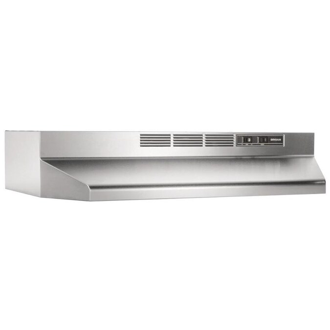 Broan 42 In Ductless Stainless Steel Black Undercabinet Range Hood In The Undercabinet Range Hoods Department At Lowes Com