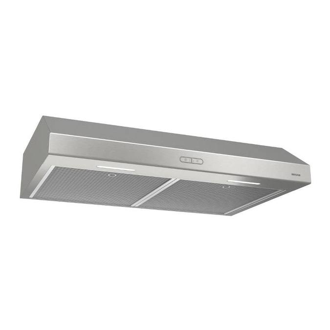 Broan 30 In Convertible Stainless Undercabinet Range Hood In The Undercabinet Range Hoods Department At Lowes Com