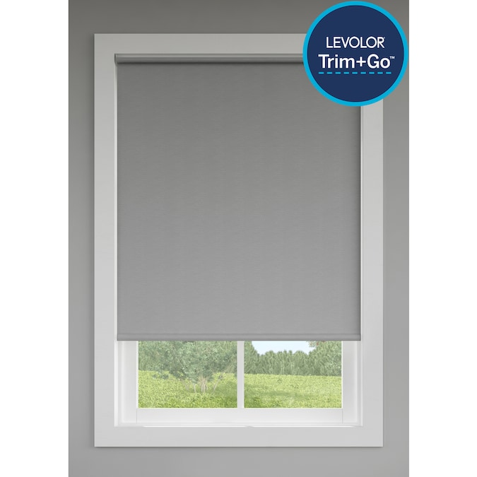 Levolor Trim Go 73 In X 72 In Oyster Room Darkening Cordless Roller Shade In The Window Shades Department At Lowes Com