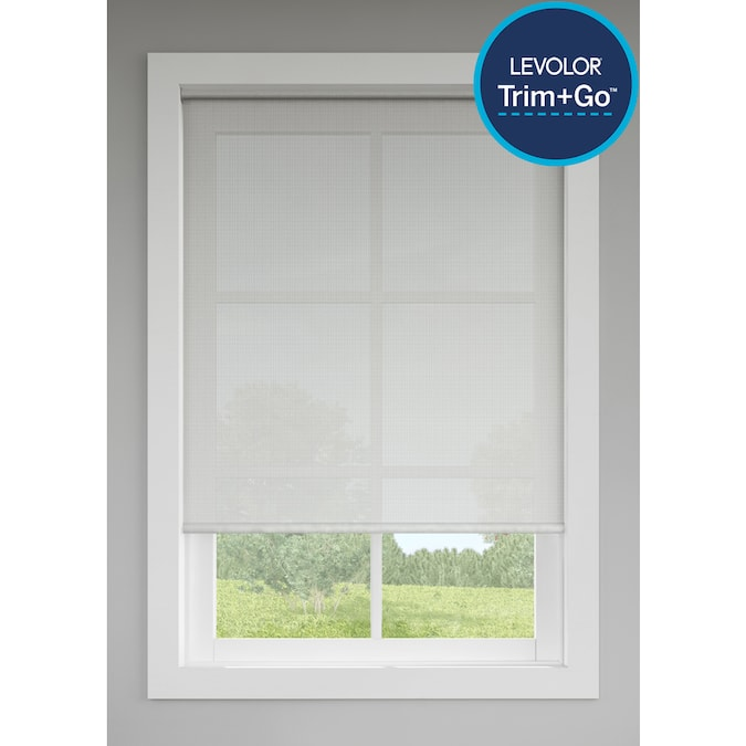 Levolor Trim Go 37 In X 72 In Shadow Light Filtering Cordless Solar Shade In The Window Shades Department At Lowes Com