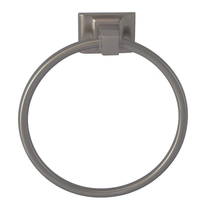 Barclay Hennessey Satin Nickel Wall Mount Towel Ring In The Towel Rings Department At Lowes Com
