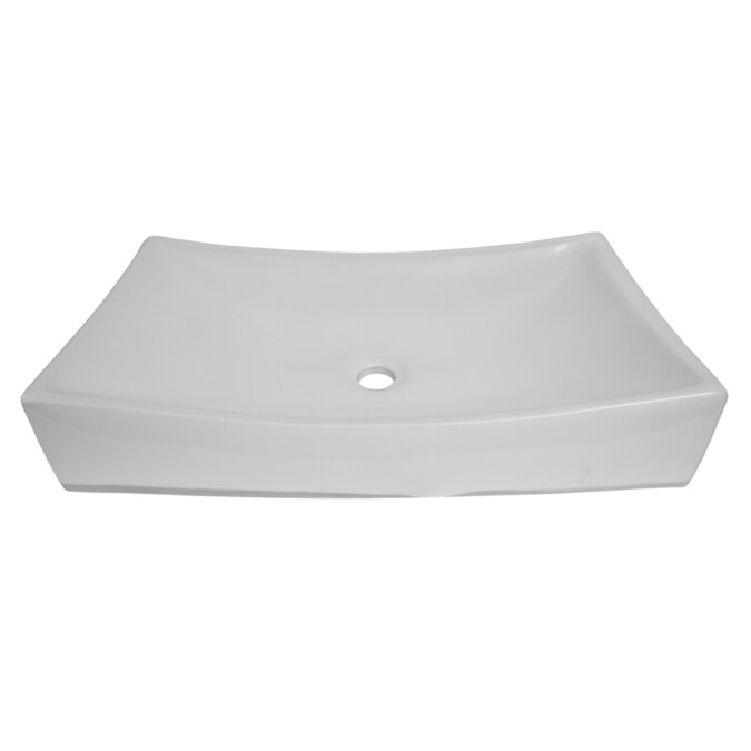 Barclay Styx 640 Above Counter Basin White Vessel Rectangular Bathroom Sink 15 37 In X 25 75 In In The Bathroom Sinks Department At Lowes Com