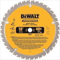 DEWALT Construction 10-in Carbide Miter/Table Saw Blade