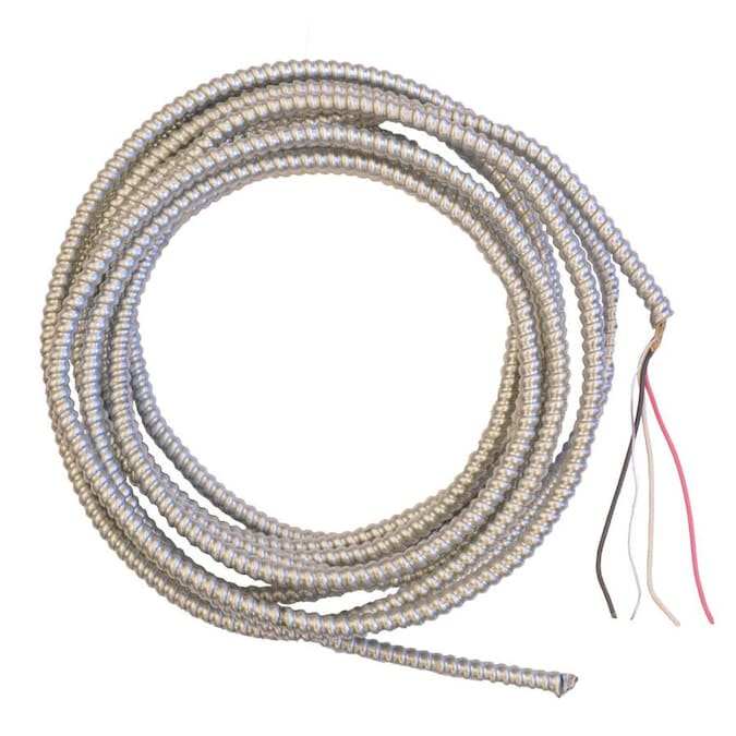 Southwire Duraclad 25 Ft 12 2 Solid Steel Ac Cable In The Armored Cable Department At Lowes Com