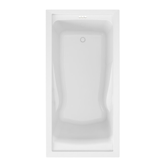 American Standard Evolution 36 In W X 72 In L White Acrylic Hourglass Reversible Drain Drop In Soaking Bathtub In The Bathtubs Department At Lowes Com
