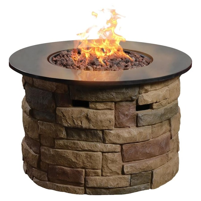 Bond Bond Signature 36 6 In W 50000 Btu Brown Composite Propane Gas Fire Table In The Gas Fire Pits Department At Lowes Com