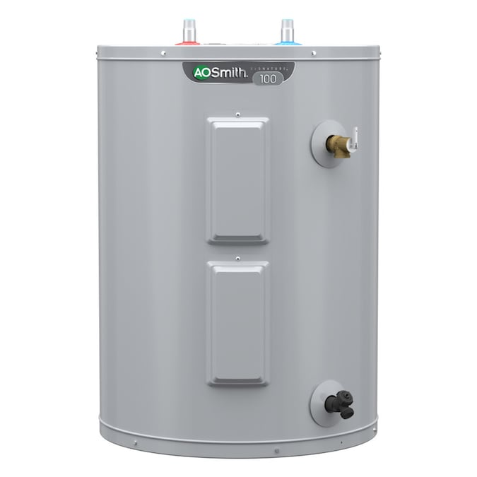 A O Smith Signature 38 Gallon Lowboy 6 Year Limited 4500 Watt Double Element Electric Water Heater In The Electric Water Heaters Department At Lowes Com