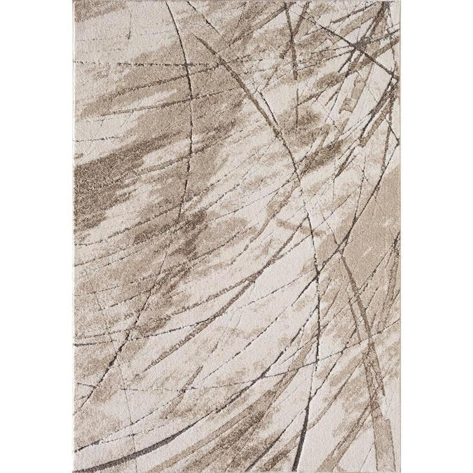 Natco Acadia 5 X 7 Ivory Indoor Abstract Industrial Area Rug In The Rugs Department At Lowes Com