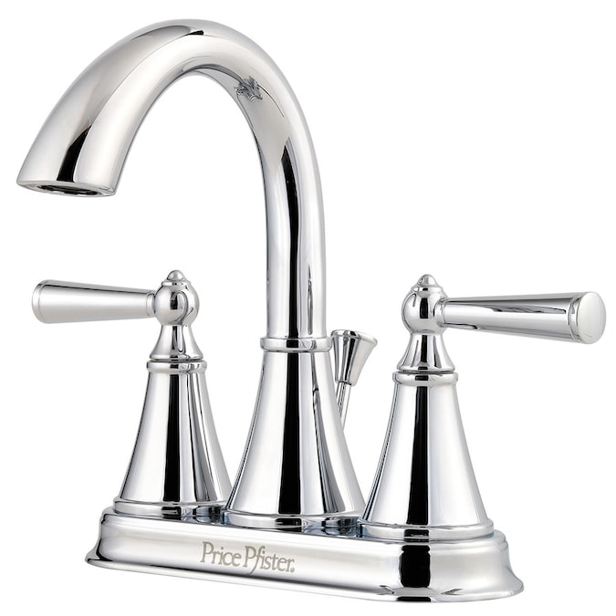 Pfister Saxton Polished Chrome 2 Handle 4 In Centerset Watersense Bathroom Sink Faucet With Drain And Deck Plate In The Bathroom Sink Faucets Department At Lowes Com