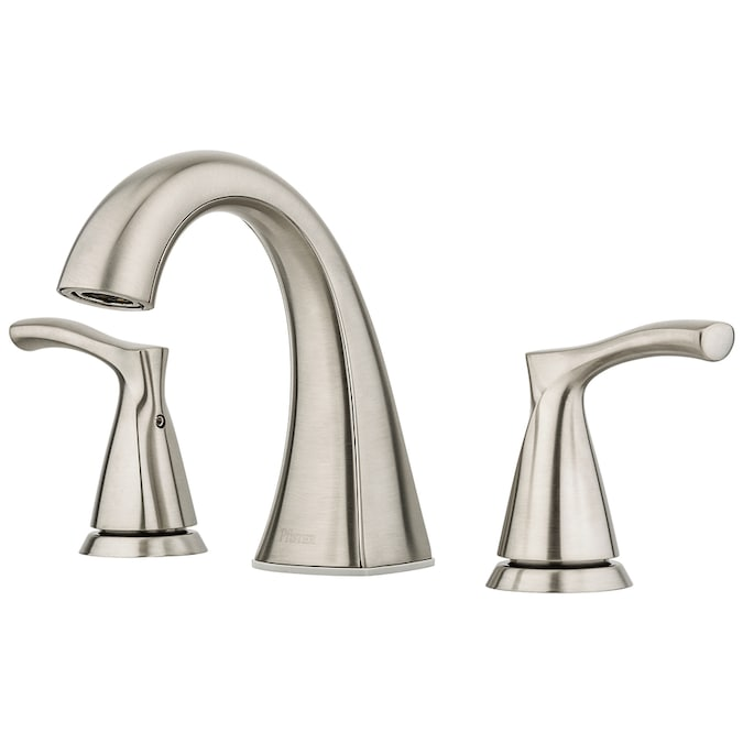 Pfister Masey Brushed Nickel 2 Handle 8 In Widespread Watersense Bathroom Sink Faucet With Drain In The Bathroom Sink Faucets Department At Lowes Com