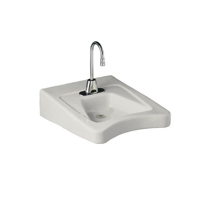 Kohler Morningside White Wall Mount Rectangular Bathroom Sink With Overflow Drain 20 In X 27 In In The Bathroom Sinks Department At Lowes Com