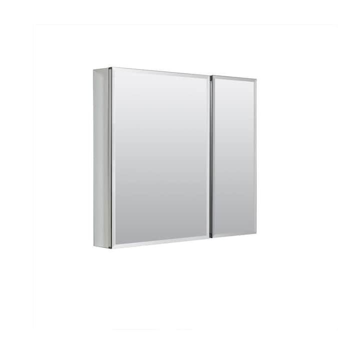 Zenith 30 In X 26 In Surface Recessed Aluminum Mirrored Rectangle Medicine Cabinet In The Medicine Cabinets Department At Lowes Com