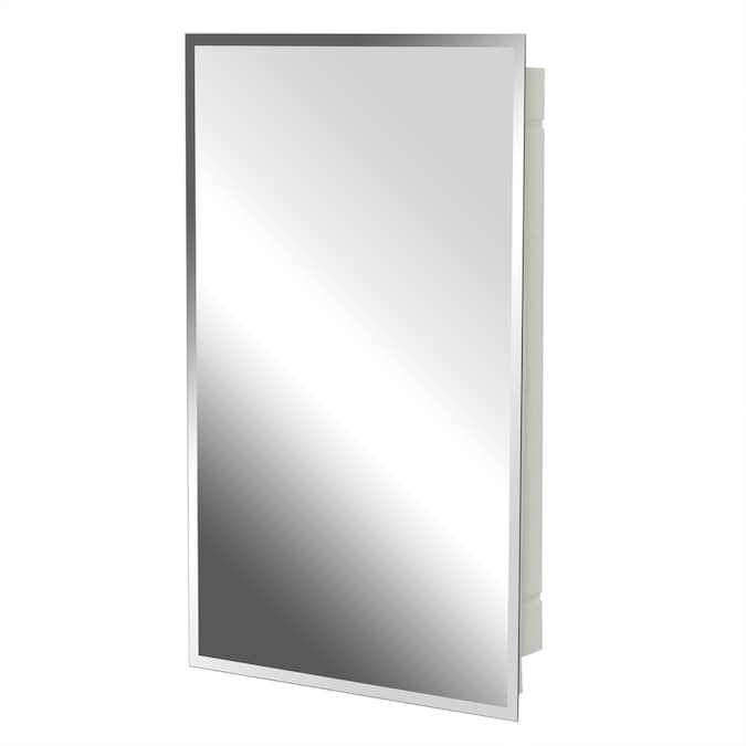 Project Source 16 In X 26 In Surface Recessed Frameless Mirrored Rectangle Medicine Cabinet In The Medicine Cabinets Department At Lowes Com