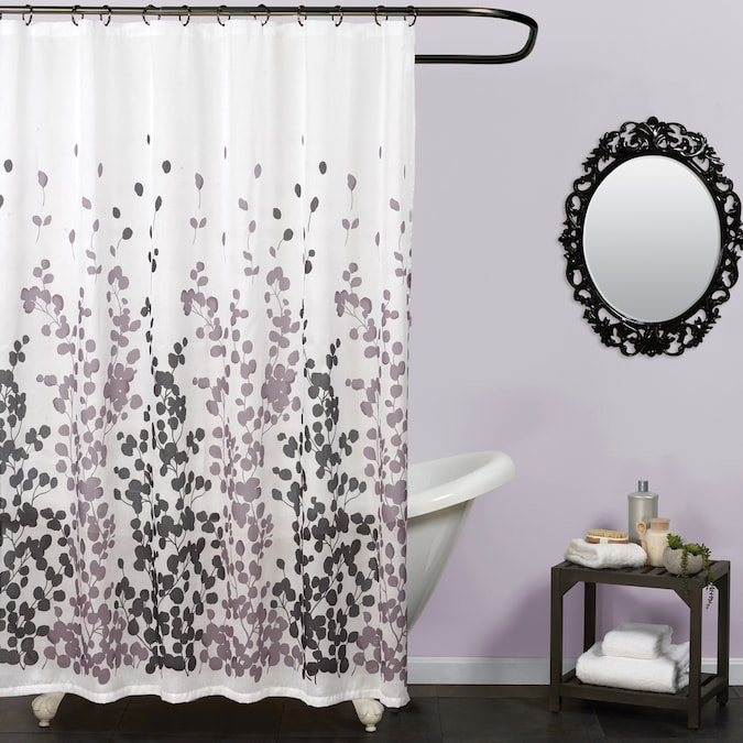 Zenna Home Polyester Multi Patterned Shower Curtain In The Shower Curtains Liners Department At Lowes Com