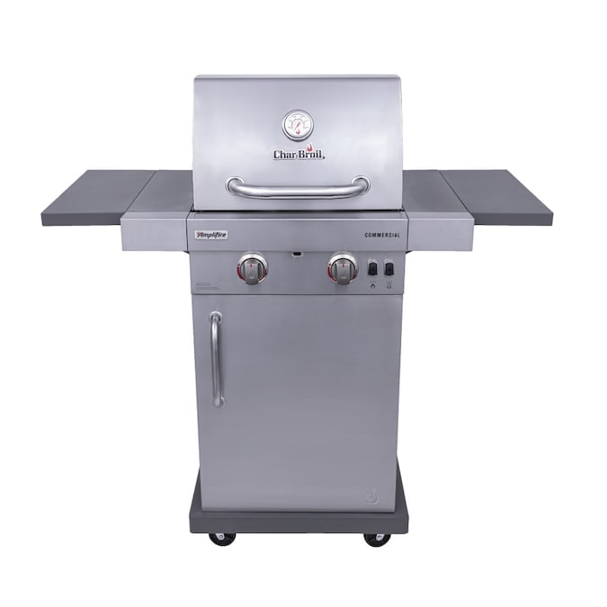 Char Broil Commercial Stainless Steel 2 Burner Liquid Propane And Natural Gas Infrared Gas Grill In The Gas Grills Department At Lowes Com