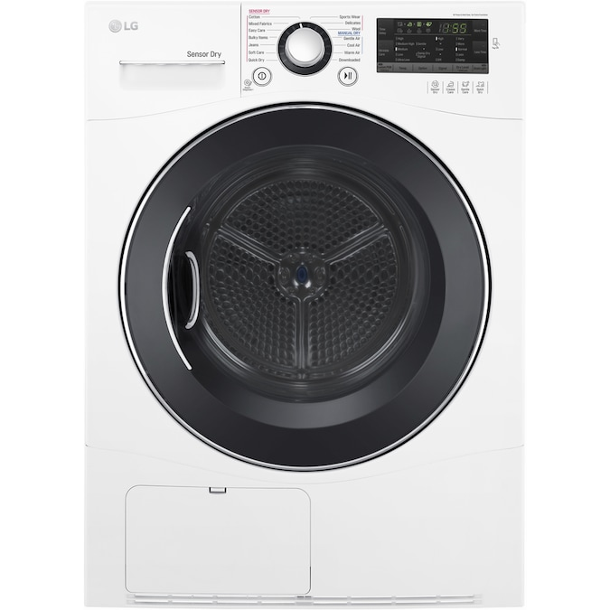 Lg 4 2 Cu Ft Stackable Ventless Electric Dryer White In The Electric Dryers Department At Lowes Com