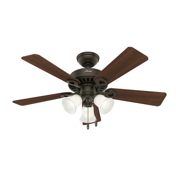 Hunter Ridgefield New Bronze 44 In Led Indoor Ceiling Fan With Light Kit 5 Blade In The Ceiling Fans Department At Lowes Com