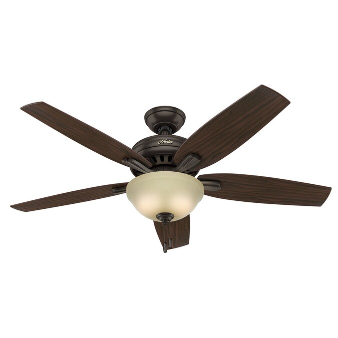 Hunter Pro S Best New Bronze 52 In Led Indoor Ceiling Fan With Light Kit 5 Blade In The Ceiling Fans Department At Lowes Com