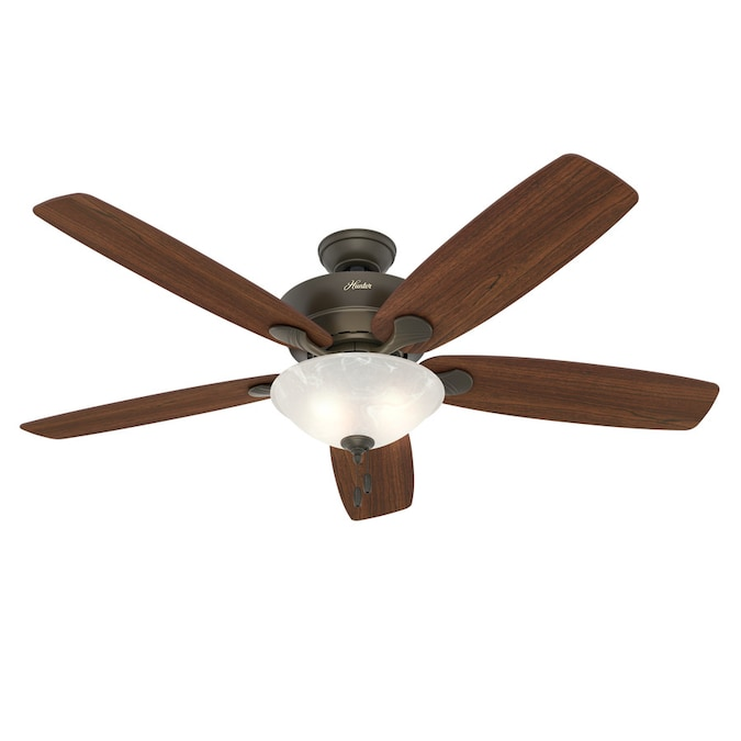 Hunter Regalia Ii New Bronze 60 In Led Indoor Ceiling Fan With Light Kit 5 Blade In The Ceiling Fans Department At Lowes Com